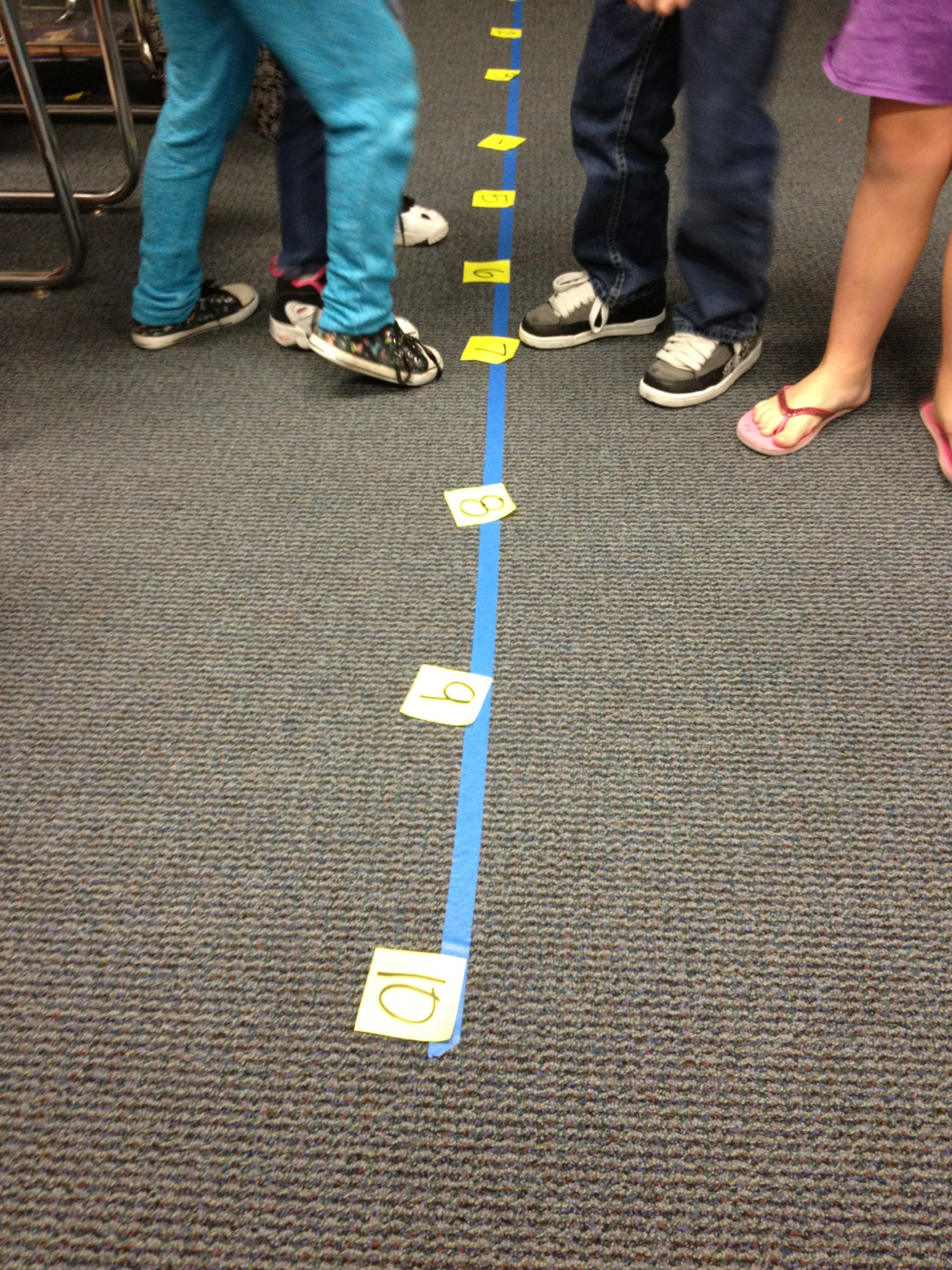 Walk the line with numbers the bubbly blonde teacher for Floor number line