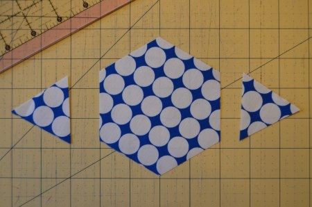 cutting hexagons
