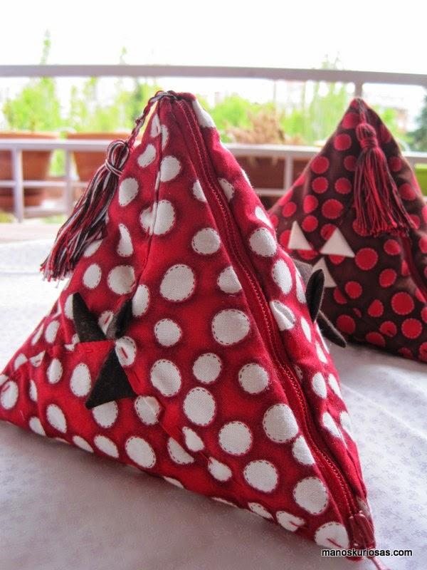 pirámides hechas en patchwork