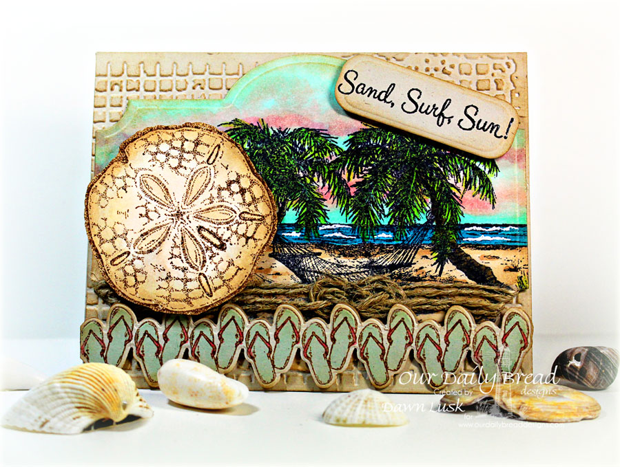 Stamps - Our Daily Bread Designs Ocean Treasures, Happy Retirement, Life is Better, ODBD Custom Flip Flop Border Die