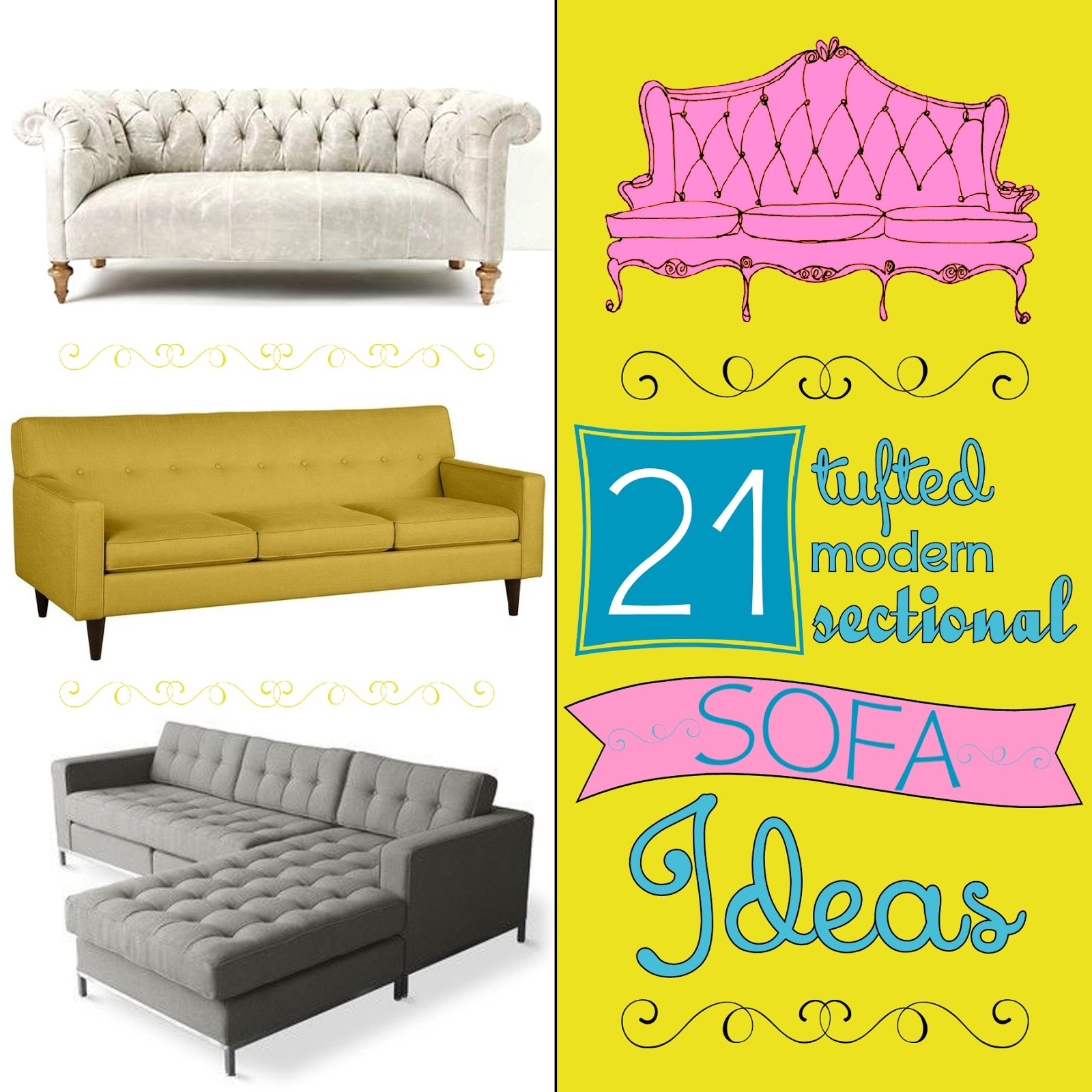 Lovely 21 {Tufted, Modern, Sectional} Sofa Ideas