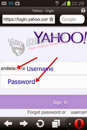 kenapa tidak bisa log in yahoo di hp