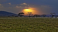 Kenya sunset Africa