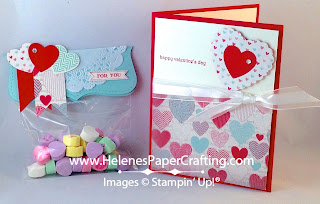 Hearts a Flutter Valentines Day Card and matching Gift Bag