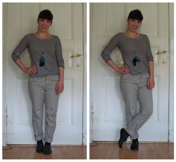 30 Kleidungsstücke für 30 Tage ergeben 30 verschiedene Outfits Tag 17