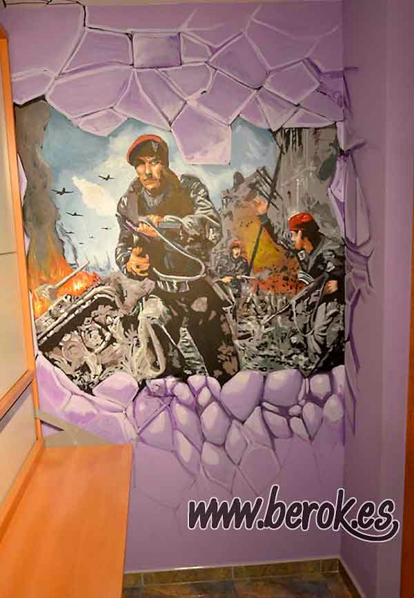 Graffiti mural de Call of Duty