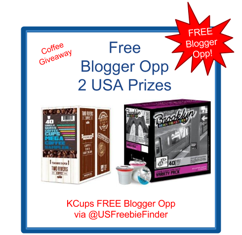 image USA Freebies- Free Blogger Opp - KCups Coffee Showing 2 prizes