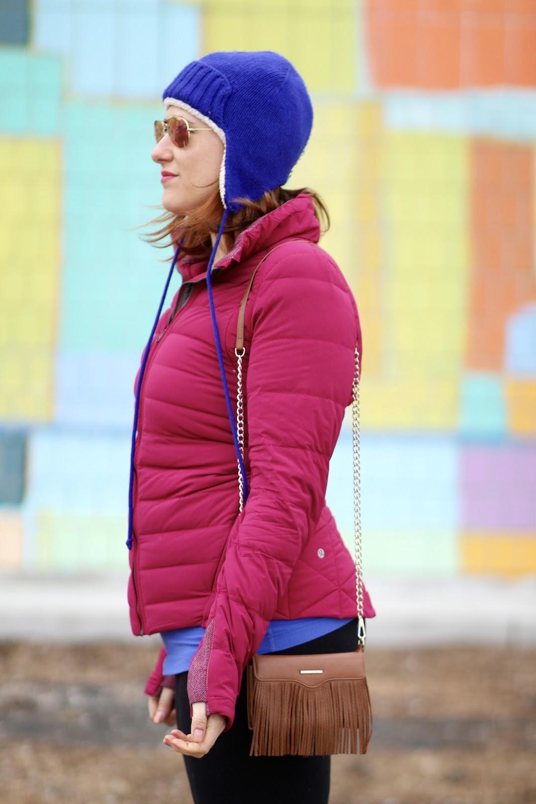 earflap, hat, puffer, jacket