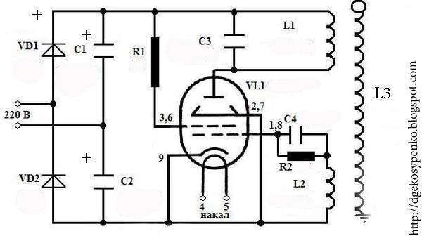 Трансформатор Тесла на 6п45с