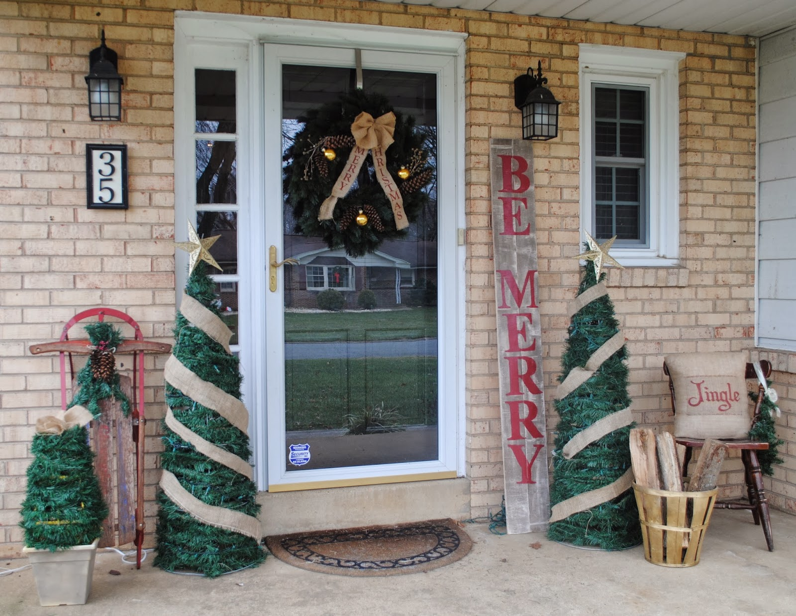 and that is how i decorated my christmas front porch for 5875 - Pottery Barn Outdoor Christmas Decorations