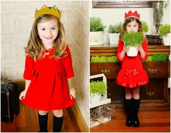 Como vestir a los niños en Navidad - vestidos rojo Sanmar