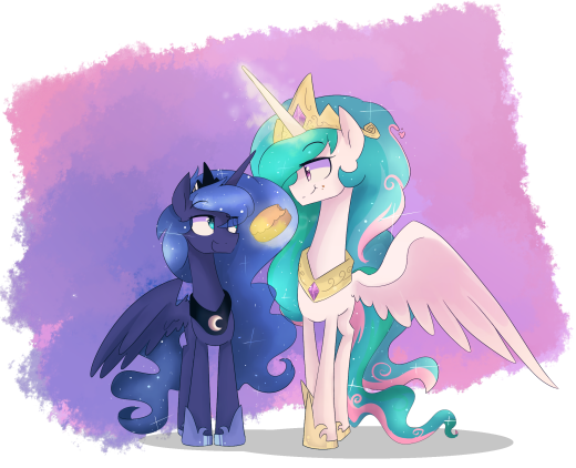 It's been a long time since Celestia and Luna have some sisterly bonding moment