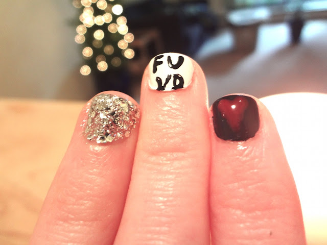 anti valentine's day nails