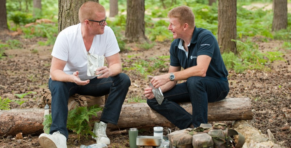 Celebrity Chef Heston Blumenthal and UK ESA astronaut Tim Peake. Credit: UK Space Agency