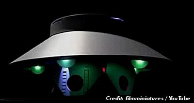 The Invaders UFO Flying Saucer Replication