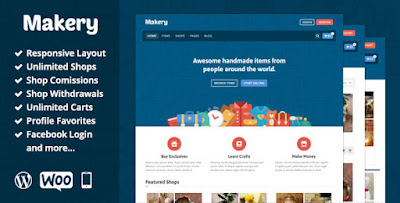 Free Download Themeforest Makery v1.9 Marketplace Wordpress Theme