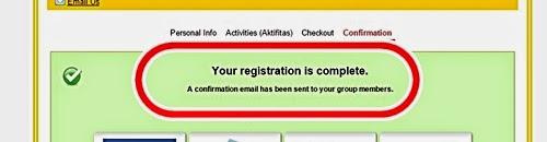 バリマラソン 2015 参加登録完了メール