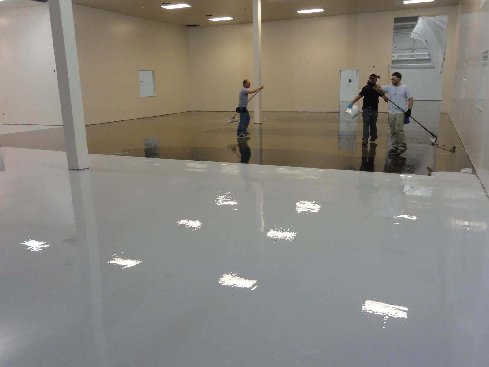 Large Commercial Epoxy Floor Coatings System | Garage floor epoxy