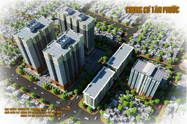 Tổng thể căn hộ Tân Phước Quận 11