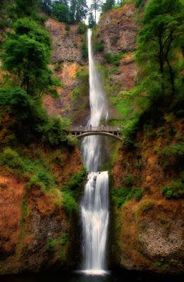 Oregon Multnomah Falls - Cascadas la cuna del agua en Oregón