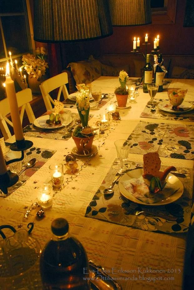 Duka bordet nu för allt Gott som komma skall! Det önskar jag alla!
