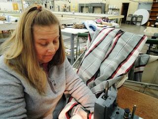 tacking pleats, drapery panel, Wesco Fabrics, custom workroom