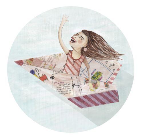 Bibliopeque- Ilustración de Romina Biassoni