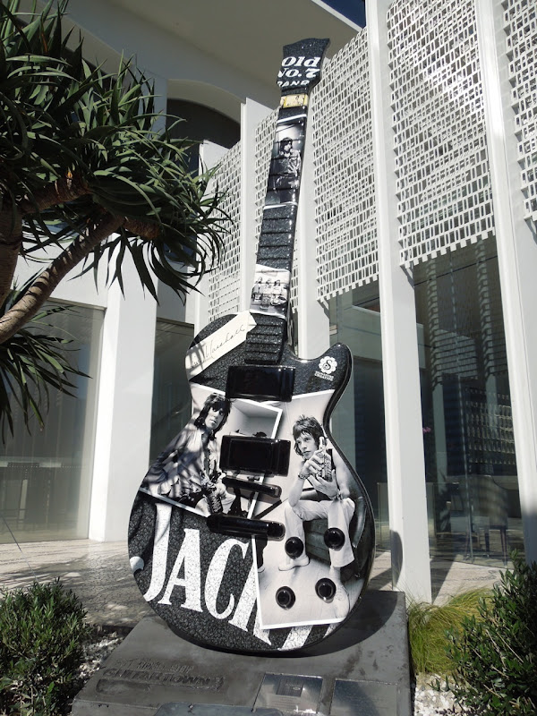 Jack Jim Marshall tribute guitar Andaz Hotel