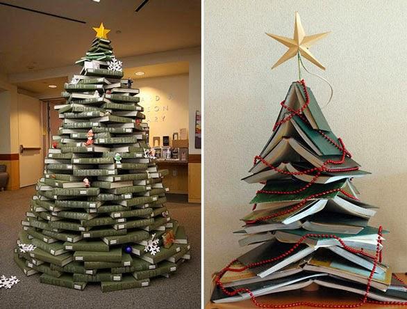El Blog De Vivelibro Tu Arbol De Navidad Mas Literario Como Hacer - Hacer-arboles-de-navidad