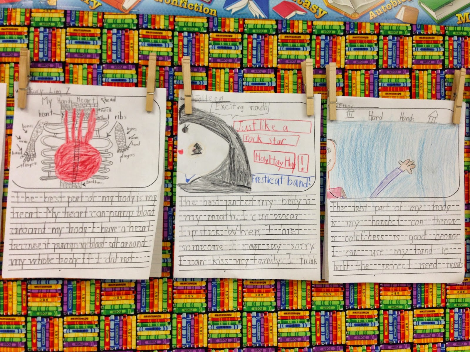 We wrote about the best part of our body. Opinions included eyes, ears ...
