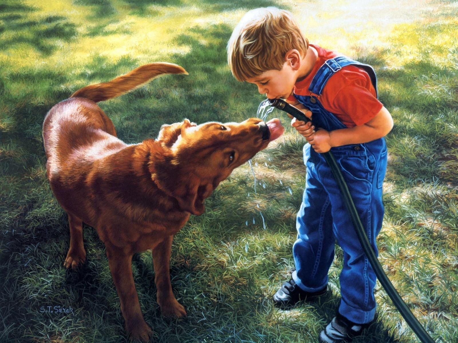 Los niños de fabiola - Página 4 Fotos-de-ni%25C3%25B1os-jugando-con-manguerra-de-agua