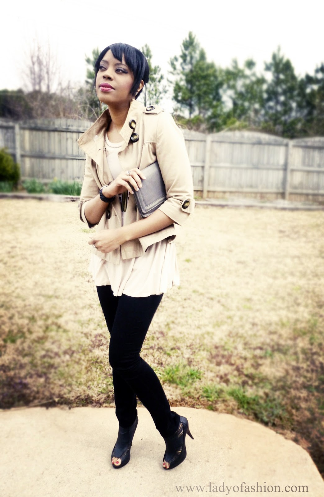 Topshop trench jacket Fashion blogger