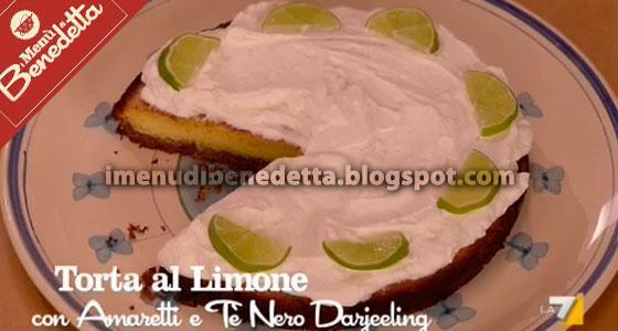 Torta al Limone con Amaretti e Tè Nero Darjeeling di Benedetta Parodi