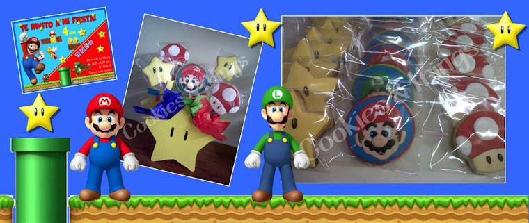 Fiesta y galletas Mario Bros