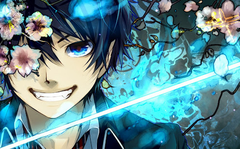 ao no exorcist rin okumura anime hd wallpaper