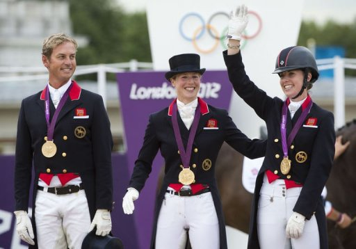 Great Britain wins Gold Medal for Dressage Team.jpg, Olympic Games