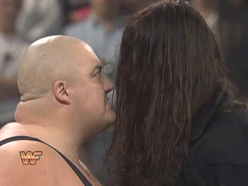 WWF / WWE: Royal Rumble 1995 - King Kong Bundy and The Undertaker have their first staredown