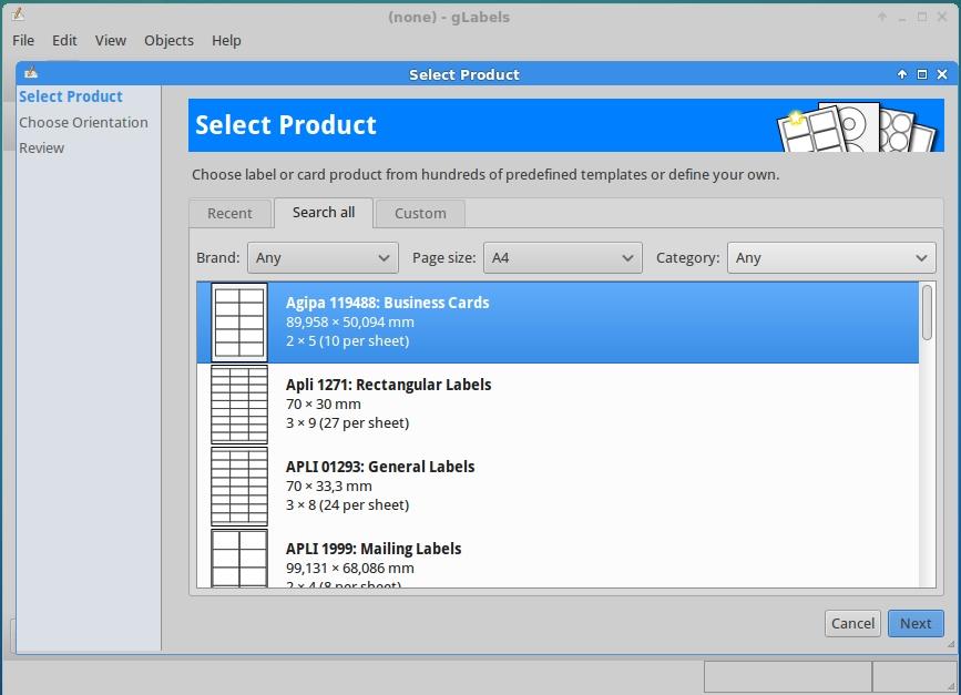 Como instalar glabels 320 no linux mint ubuntu e derivados o glabels um software de cdigo aberto desenvolvido pela gnome para criar etiquetas ou cartes de visita entre outros ele tem suporte para os formatos reheart Image collections