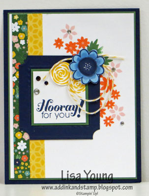 Stampin' Up! Fun Frames Embossing Folders and Garden Party Stamp set.
