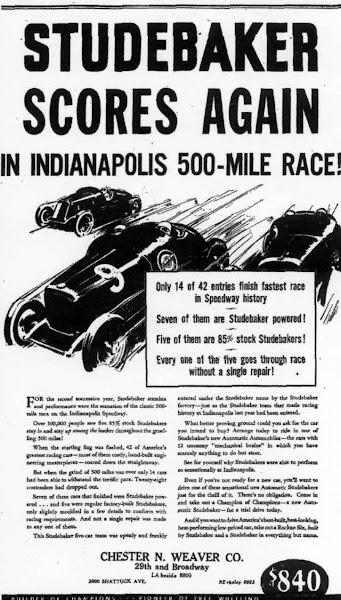 Studebaker fleet 1932