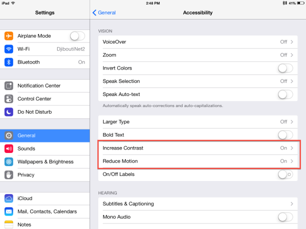 How to speed up iOS 7 on an older device