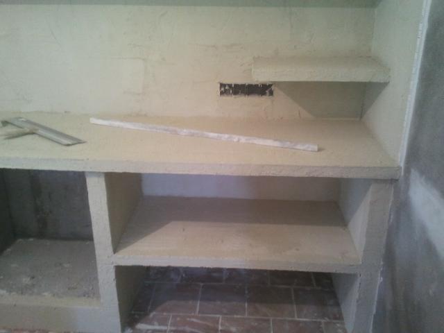 Reformas julio camarena cocina con cemento pulido - Como hacer una cocina de obra ...