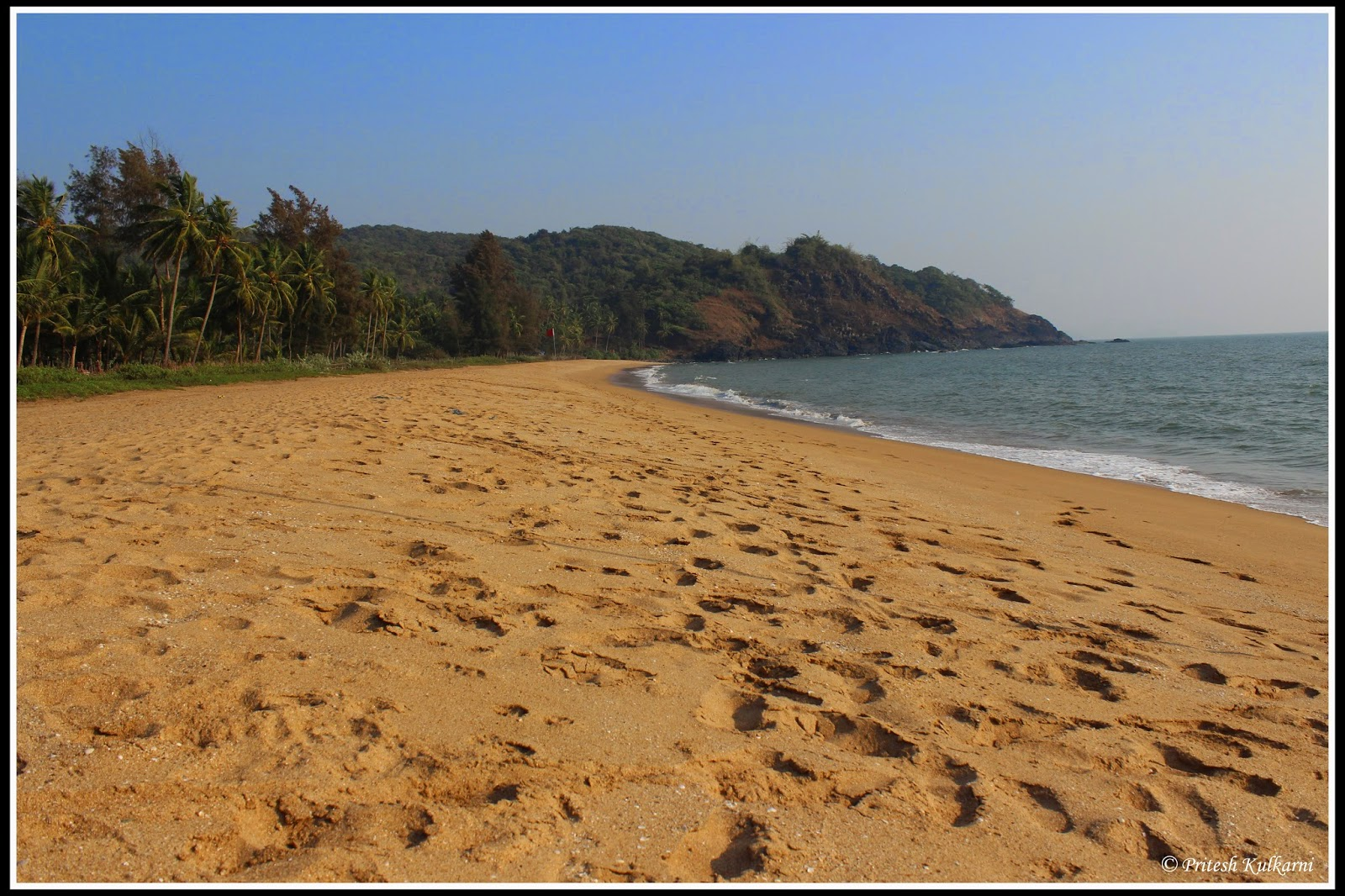 Polem Beach, Untouched golden sand beach