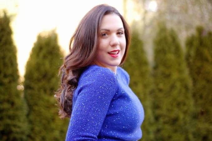 Anne Klein sequin sweater