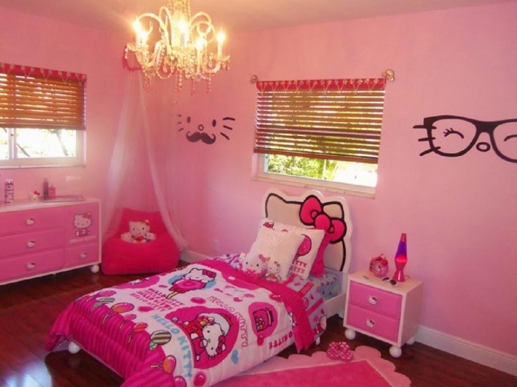 Desain Dinding Kamar Tidur Hello Kitty Anak Remaja Dewasa Rumah