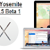 Download OS X Yosemite 10.10.5 Beta Delta / Combo Update .DMG Files - Direct Links