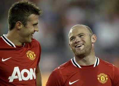 Carrick and Rooney Man Utd Tour USA