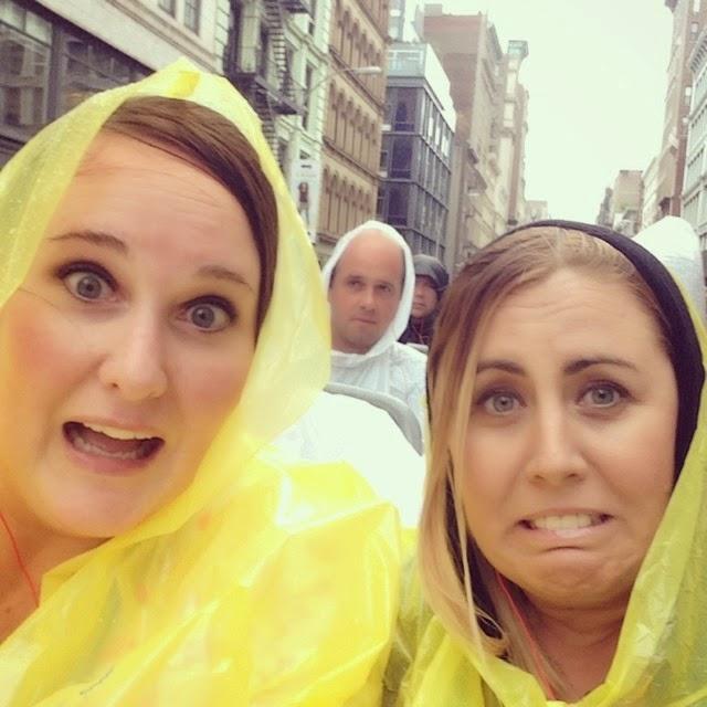 rainy bus tour in NYC