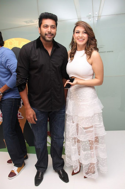Hansika Motwani Showcasing Her Sexy Curves In White Dress At Tamil Film Romeo Juliet Premiere