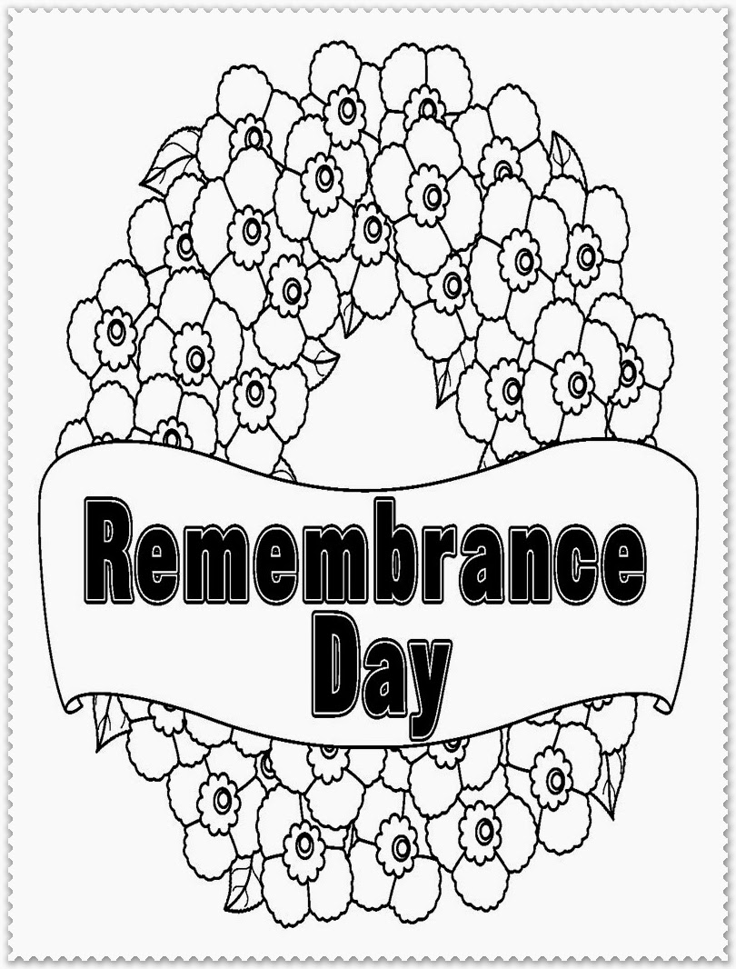free remembrance day coloring pages - photo#27